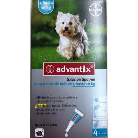 Pipetas Antiparasitarias Advantix para perros de 4 a 10 kg - 4 pipetas