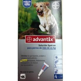 Pipetas Antiparasitarias Advantix para perros de más de 25 kg - 4 pipetas