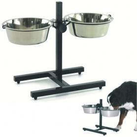 Comedero regulable para perros (Incluye 2 comederos de acero inoxidable)