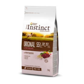 ORIGINAL CORDERO CON AVENA Mini – Adult 2 Kg - True Instinct
