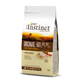 ORIGINAL POLLO CON ARROZ INTEGRAL Medium/Maxi – Junior 2 Kg - True Instinct