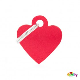 Chapa Identificativa Corazón Aluminio