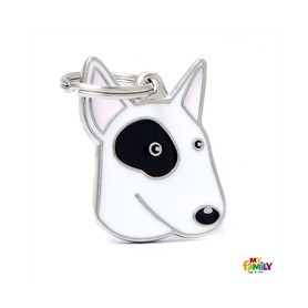 Placa identificativa para Bull Terrier Blanco y Negro