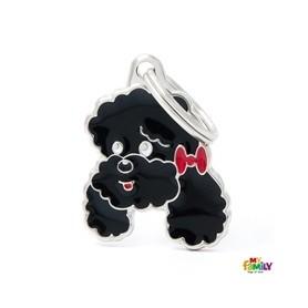 Placa identificativa para Caniche Negro