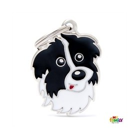 Placa identificativa para Border Collie