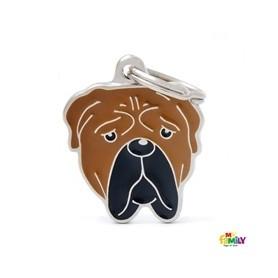 Placa identificativa para Bullmastiff
