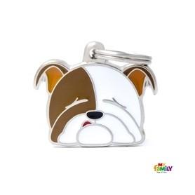 Placa identificativa para Bulldog Inglés