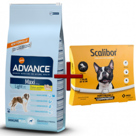 Pack: Advance Maxi Light 15 KG + Scalibor Collar antiparasitario 48 cm