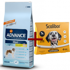 Pack: Advance Maxi Light 15 KG + Scalibor Collar antiparasitario 65 cm