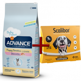 Pack: Advance Puppy Sensitive 12 KG + Scalibor Collar antiparasitario 65 cm