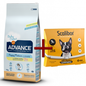 Pack: Advance Puppy Medium 12 KG + Scalibor Collar antiparasitario 48 cm