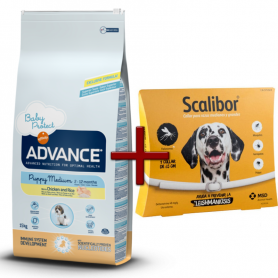 Pack: Advance Puppy Medium 12 KG + Scalibor Collar antiparasitario 65 cm