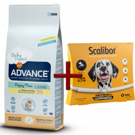 Pack: Advance Puppy Maxi 12 KG + Scalibor Collar antiparasitario 65 cm