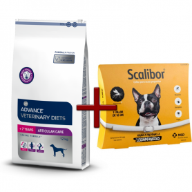 Pack: Advance Veterinary Articular +7 años 12 KG + Scalibor Collar antiparasitario 48 cm