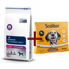 Pack: Advance Veterinary Articular +7 años 12 KG + Scalibor Collar antiparasitario 65 cm