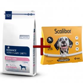 Pack: Advance Veterinary Atopic Care 12 KG + Scalibor Collar antiparasitario 65 cm