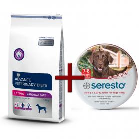 Pack: Advance Veterinary Articular +7 años 12 KG + Seresto Para Perros (Más De 8 KG)