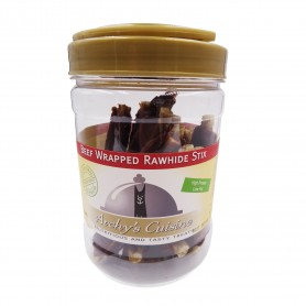 Beef Wrapped Rawhide Stix 340gr Jarra