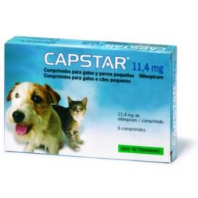 Capstar para Gatos y Perros Pequeños 11,4 mg - 6 Comprimidos