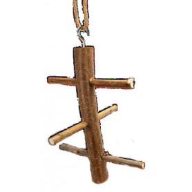 Juego trepador de madera 3 niveles para pajaros 23cm