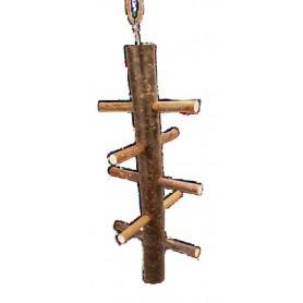 Juego trepador de madera 5 niveles para pajaros 32cm