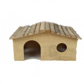 Caseta de madera para roedores 4 lados Large - 40x24x20cm