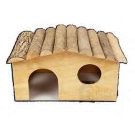 Caseta de madera para roedores 4 lados Medium - 28x19x15cm
