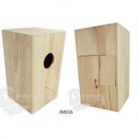 Nido para Pericos Especial Papagayos 25x25x44cm con puerta trasera