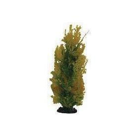 Planta Plástica 10-13cm Verde/Amarilla