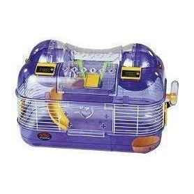 Jaula de Hamster grande con gimnasio, rueda de ejercicio y contador eléctrico de vueltas