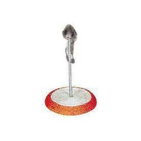Base redonda 13cm diam. en sisal con muelle y ratón