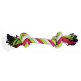 Mordedor de cuerda de algodón multicolor 20cm