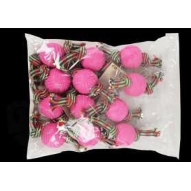 Mordedor de cuerda de algodón con pelota de goma 26cm