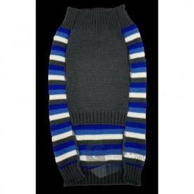 Jersey de lana para perros de rayas con hueso/huella 35cm