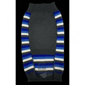 Jersey de lana para perros de rayas con hueso/huella 45cm