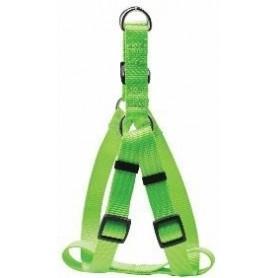 Arnés regulable en nylon verde (S)