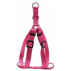 Arnés regulable en nylon rosa (L)