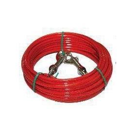 Cable de fijación revestido para perros 450cm