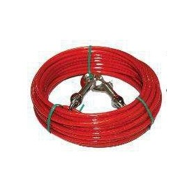 Cable de fijación revestido para perros 900cm
