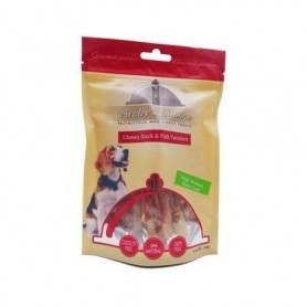 Chewy Duck & Fish Twisters Bag 100gr