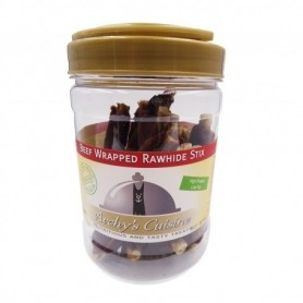 Beef Wrapped Rawhide Stix Jar 340gr