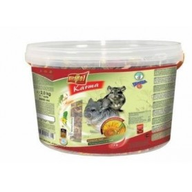 Karma - Alimento Completo para Chinchillas Cubeta 2kg