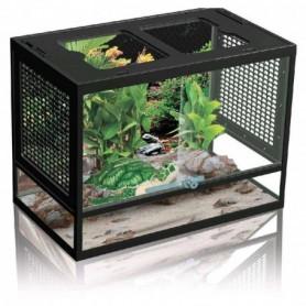 Terrario para pequeños Reptiles con cierre de seguridad y tapa con rendijas 43,8x27,8x34cm (PT-400)