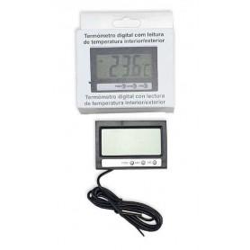 Termómetro Digital con lectura de temperatura de Interior y Exterior