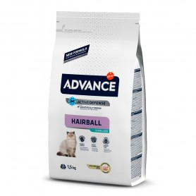 Advance Sterilized Adult Hairball con pavo 1,5 KG