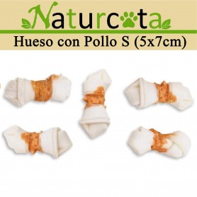 Hueso con Pollo S (5x7CM) 70gr - Naturcota