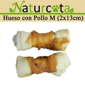 Hueso con Pollo M 110gr - Naturcota